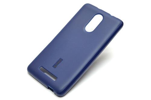 Силиконовая накладка синяя матовая