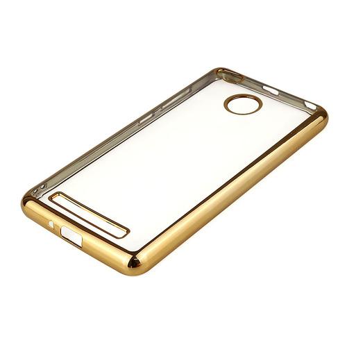 Силиконовая прозрачная накладка с золотой окантовкой