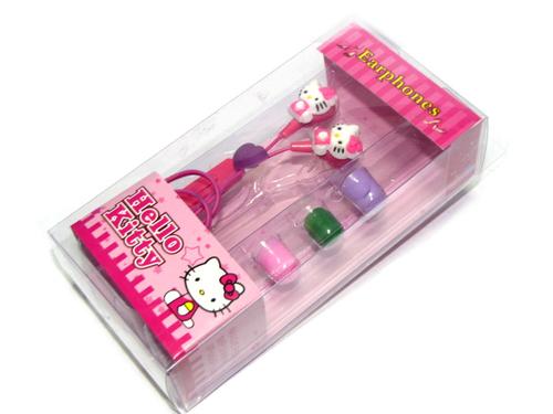 Стерео-наушники детские Hello Kitty с сердечком, розовые